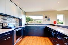 Diseño moderno del sitio de la cocina Foto de archivo