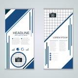 Diseño moderno del vector de las banderas del negocio del rollo-para arriba Imágenes de archivo libres de regalías