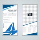 Diseño moderno del vector de las banderas del negocio del rollo-para arriba Fotos de archivo
