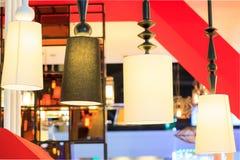 Diseño moderno hermoso de lámparas del techo de la rota Fotografía de archivo