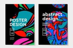 Diseño moderno Textura de mármol abstracta de pinturas líquidas brillantes coloreadas Presentaciones usadas del diseño, impresión libre illustration