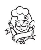Diseño monocromático del cocinero Foto de archivo