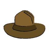 Diseño montado sombrero canadiense coloreado del policía libre illustration