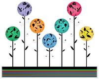 Diseño multicolor de la flor, stock de ilustración