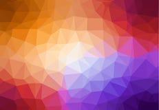 Diseño multicolor polivinílico bajo del fondo ilustración del vector