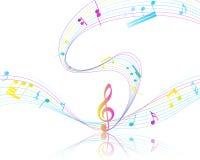 Diseño musical Foto de archivo libre de regalías