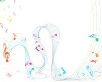 Diseño musical Imagen de archivo libre de regalías