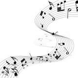 Diseño musical Imagenes de archivo
