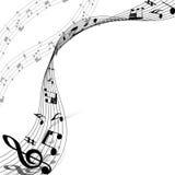 Diseño musical Imagen de archivo