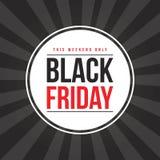 Diseño negro de la bandera de la venta de viernes Imagen de archivo libre de regalías