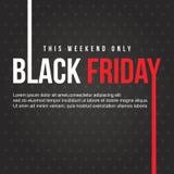 Diseño negro de la bandera de la venta de viernes Foto de archivo libre de regalías