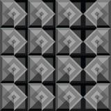 Diseño negro del fondo de los cuadrados del extracto Imagenes de archivo