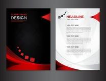 Diseño negro del informe anual de la cubierta Foto de archivo libre de regalías
