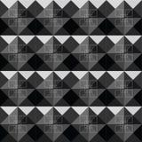 Diseño negro del modelo de los cuadrados del extracto Imagen de archivo