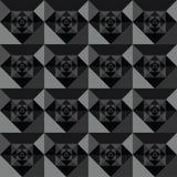 Diseño negro inconsútil del fondo de los cuadrados Foto de archivo