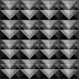 Diseño negro inconsútil del modelo del triángulo Foto de archivo libre de regalías