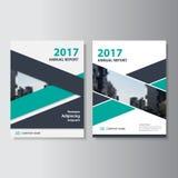 Diseño negro verde de la plantilla del aviador del folleto del prospecto del informe anual del vector, diseño de la disposición d ilustración del vector