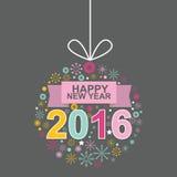 Diseño ningunos del vector del mono de la Feliz Año Nuevo 2016 3 Imagen de archivo