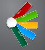 Diseño numerado de la lista de la paleta. Imagen de archivo libre de regalías