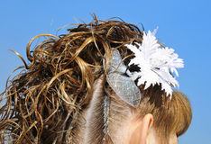 Diseño nupcial del pelo Imagen de archivo libre de regalías