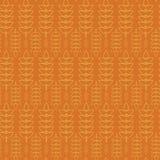 Diseño Oktoberfest de la geometría de Ray Spike Plant Seamless Pattern Abstract Ilustración del Vector