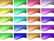 Diseño ondulado abstracto del vector del fondo Imagen de archivo