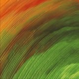 diseño ondulado colorido del extracto 3D Pintura brillante de la lona que brilla intensamente Los movimientos del cepillo dan la  fotos de archivo libres de regalías