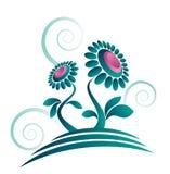 Diseño orgánico abstracto de la flor stock de ilustración