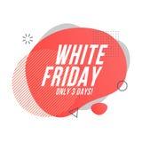 Diseño orgánico blanco de viernes stock de ilustración