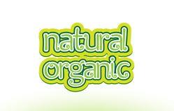 diseño orgánico natural de la tipografía del icono del logotipo del texto de la palabra stock de ilustración