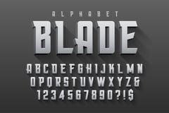 Diseño original condensado vector de la fuente de la exhibición, alfabeto libre illustration