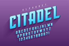Diseño original condensado vector de la fuente de la exhibición, alfabeto, charact ilustración del vector