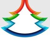 Diseño original del árbol de navidad en colores del arco iris Foto de archivo libre de regalías