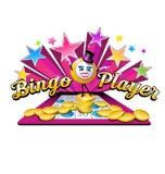 Diseño original del logotipo del ejemplo del bingo Imagen de archivo libre de regalías
