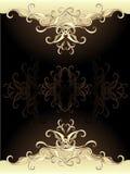 Diseño original del oro Imagenes de archivo