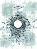 Diseño ornamental azul del grunge Foto de archivo