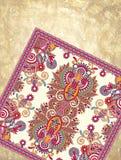 Diseño ornamental de la alfombra de la flor en grunge Imágenes de archivo libres de regalías