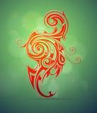 Diseño ornamental de los remolinos libre illustration