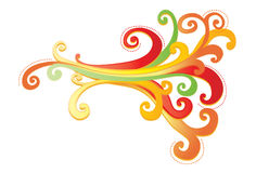 Diseño ornamental vibrante con los curlicues Foto de archivo libre de regalías