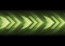 Diseño oscuro abstracto de las flechas de la tecnología Fotos de archivo