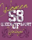 Diseño púrpura de los deportes de las mujeres Fotografía de archivo libre de regalías
