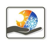 Diseño para el aire acondicionado Imágenes de archivo libres de regalías