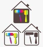 Diseño para el asunto, casa Imagen de archivo libre de regalías
