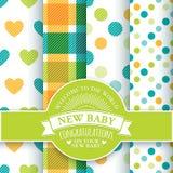 Diseño para el recién nacido Imagen de archivo