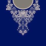 Diseño para las camisas del cuello, materia textil del vector stock de ilustración