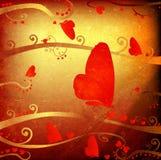 Diseño para las tarjetas del día de San Valentín Foto de archivo libre de regalías