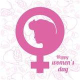 Diseño para mujer feliz del día Foto de archivo