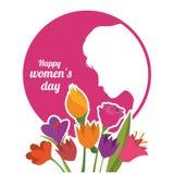 Diseño para mujer feliz del día Fotos de archivo libres de regalías