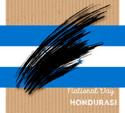Diseño patriótico del Día de la Independencia de Honduras Fotografía de archivo libre de regalías