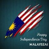 Diseño patriótico del Día de la Independencia de Malasia ilustración del vector